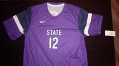 Kansas State University Wildcats Large Mens Jersey/Shirt #12 #Nike #KansasStateWildcats