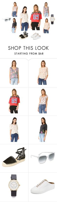 """Floral T-shirts..**"" by yagna ❤ liked on Polyvore featuring Free People, Rebecca Taylor, 3.1 Phillip Lim, Rebecca Minkoff, Gucci, Marc Jacobs, Vince and vintage"