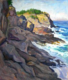 Oil Painting Landscape Crash/Monhegan. Large by wickstromstudio, $980.00