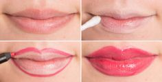 You can also reshape your lips by first covering them with concealer, and then tracing just slightly outside your natural lip line with a lip liner pencil, making them appear larger. Continue to fill in your lips with the pencil for a matte look or finish with a gloss. See Jessie James Decker demonstrate this trick here (at the 4:37 mark).