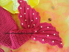 Crochet Pearls Mermaid Tail Prop Sets MADE by CrochetbyBernadette