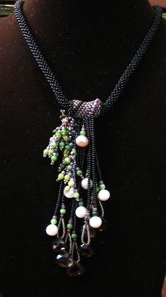 Sweet ivy beadwork Necklace by ARTSTUDIO51 on Etsy