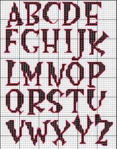 cross stitch spooky letters