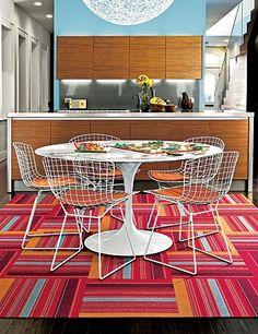 flor carpet tiles for lounge chair area