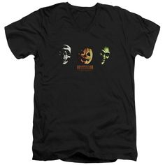 """Checkout our #LicensedGear products FREE SHIPPING + 10% OFF Coupon Code """"Official"""" Halloween Iii / Three Masks - Short Sleeve Adult V-neck - Halloween Iii / Three Masks - Short Sleeve Adult V-neck - Price: $34.99. Buy now at https://officiallylicensedgear.com/halloween-iii-three-masks-short-sleeve-adult-v-neck"""
