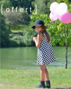 patron de couture PDF gratuit robe enfant poppy lou&me Sewing Clothes Women, Diy Clothes, Boho Outfits, Pattern Fashion, Skirt Fashion, Granddaughters, Couture Girl, Girl Toddler, Sewing Diy