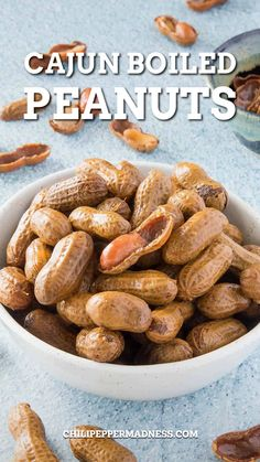 I love boiled peanuts. There. I had to start saying that straight off. If you've never had boiled peanuts, you owe it to yourself to print this recipe. Go make some right away. You will thank me for it. Believe me. #peanutsrecipe #appetizers #snackrecipe #cajunboiledpeanuts #peanutrecipe | chilipeppermadness.com @chilipeppermadness Spicy Chicken Recipes, Jalapeno Recipes, Cajun Recipes, Bhg Recipes, Easy Healthy Recipes, Lunch Recipes, Cajun Boiled Peanuts, Boil Peanuts Recipe