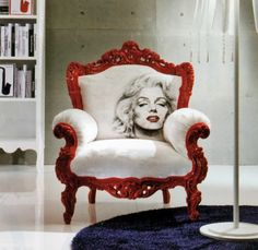 diggin' the chair    Marilyn: Baroque style armchair with a trendy extravagant twist.