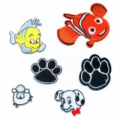 Cartoon Animal Fish Dog Palm Patch Computer Embroidery Badges Hand Sewing Ironing Sticker On Cloth Garment Hat Bag Accessories #>=#>=#>=#>=#> Click on the pin to check out discount price, color, size, shipping, etc. Save and like it!
