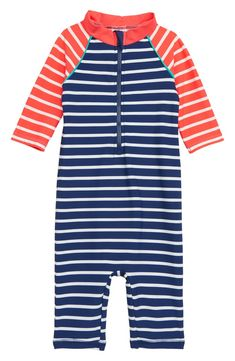 77d4938b Free shipping and returns on Mini Boden Fun One-Piece Rashguard Swimsuit ( Baby)