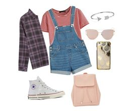 Day out(1) by lovexbria on Polyvore featuring polyvore, fashion, style, RVCA, WithChic, Monki, Converse, New Look, Bling Jewelry, Skinnydip and clothing