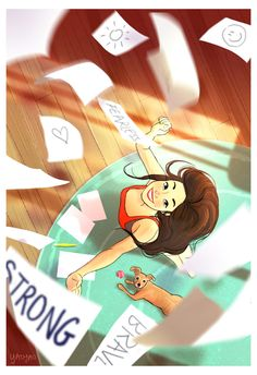 Illustration Mode, Illustrations, Digital Illustration, Portrait Illustration, Girl Cartoon, Cartoon Art, Character Art, Character Design, Living Alone