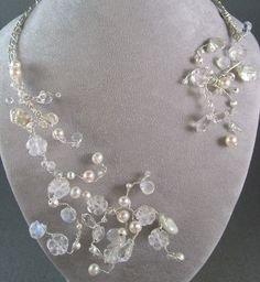 Queen Esther Necklace Keshi pearls quartz by DuchessCatherine, $395.00