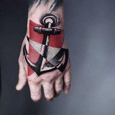 23 ungewöhnliche Anker-Tattoos #Tattoo #Anchor
