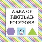 This is a set of two worksheets that can be used to help students find the area of regular polygons.    The first worksheet contains only hexagons, s...