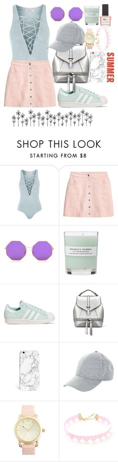 """Summer 2016 day 29"" by darling-ange1 ❤ liked on Polyvore featuring Topshop, A.P.C., adidas, New Look and ncLA"