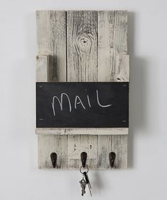 Look what I found on #zulily! Chalkboard Mail Slot Wall Hook by Drakestone Designs #zulilyfinds