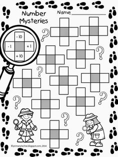 Math Freebie Number Mysteries For Math Detectives Includes Worksheet And 30 Cards In Color And Bw Math Classroom, Kindergarten Math, Math Resources, Math Activities, Math Strategies, Math Worksheets, Human Resources, Math Place Value, Math Intervention