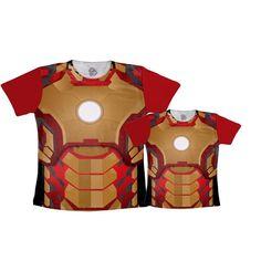 Camiseta Tal Pai Tal Filho Homem de Ferro - leaoleaozinho.com.br