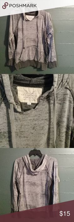 Ocean Drive Athletics Vintage Sweatshirt Thin Heather grey athletic casual hoodie. Exterior seams and material give it the vintage look. Super comfy but a little fancier than your average hoodie! Ocean Drive Sweaters