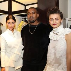 Kim & Kanye West with designer Natalia Alaverdyan