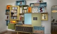 storage system. Reclaimed wood / furniture, with a contemporary slice.