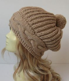 womens hat women slouchy beanie winter hat women by selmahandcraft - Stricken im Winter Crochet Beanie, Knitted Hats, Knit Crochet, Crochet Hats, Winter Hats For Women, Women Hats, Knit Patterns, Hand Knitting, Slouchy Beanie Hats