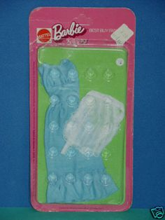 Mod Barbie Kelley P.J. PJ Icy Blue Dress with Apron 7749 Best Buy Fashions | eBay