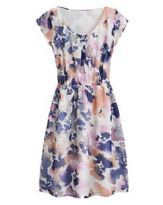 599b47b01fc385 Floral Print Day Dress Curves Clothing