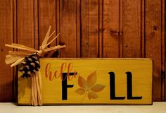 Fall Home Decor, Autumn Home, Autumn Fall, Primitive Wood Signs, Fall Signs, Holiday Time, Hello Autumn, Antique Gold, Are You The One