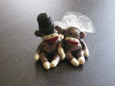 Sock Monkey Wedding Cake topper... for my little sock monkey sister :D