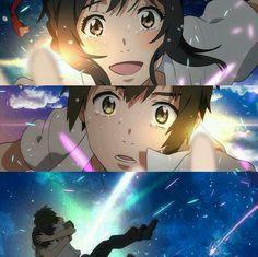 君の名は ~ Kimi No Na Wa After Story : Moments after the Meeting (Final) ~ All new things. Otaku Anime, Manga Anime, Anime Art, Kimi No Na Wa, Your Name Movie, Your Name Anime, Studio Ghibli, Makoto Shinkai Movies, The Garden Of Words
