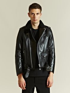 Wacko Maria Men's Sheepskin Riders Jacket - The perfect leather jacket