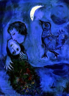 "Marc Chagall, ""Le Paysage Bleu"" ~ Painting You With Words"