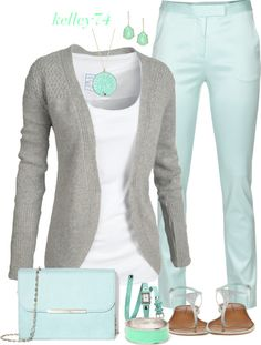 Mint and Grey.  :)