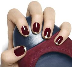 Oxblood shellac with gold tips