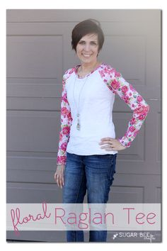 make your own Floral Raglan Tee ~ Sugar Bee Crafts
