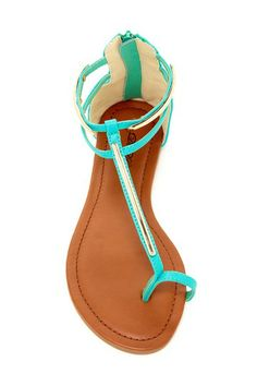 Barely there sandals in Light Blue