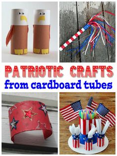 Fun patriotic crafts for kids from cardboard tubes