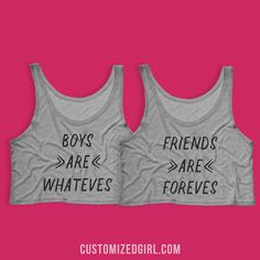 Best friends are forever! With these tanks you and all of your besties can wear matching custom clothes whenever you want to remind people that friends are foreves. This could also be the perfect gift for any friend to make them feel special! Customize it with your name and get yourself a matching one.