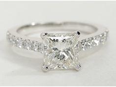 Pavé Diamond Engagement Ring in 14k White Gold (1/2 ct. tw.)