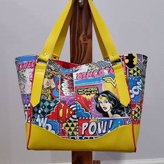 New #charlottecitytote with the lovely #wonderwoman on one side and #batgirl on the other available from my shop #embhandcrafted. Another awesome #swoonpatterns pattern.