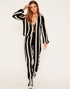 b2b0d2b29911 Stripe A Pose Jumpsuit