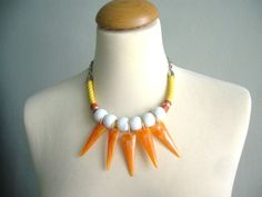 Tribal statement colorful necklace by stavroula on Etsy, $35.00