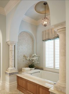 Traditional Bathroom. Beautiful #Traditional #Bathroom...it is all in the details.