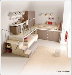 子供部屋の実例ロフトベッド画像2