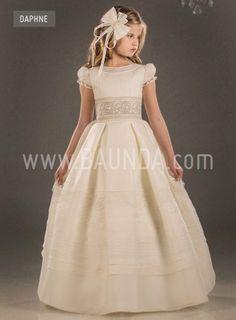 Vestido de comunión español Valeria 2018 modelo DAPHNE