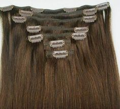 You can find ready-made clip-ins at beauty supply stores in various lengths, colors and textures, or you can make your own using the hair of your choice.