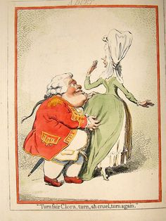 James Gillray 1851 LG Folio Hand Col Caricature. Spouting a Duet. Set of 2 | Albion Prints