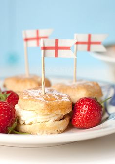 scones with branded flags in - Google Search